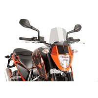 Puig New Generation Sport Screen To Suit KTM 690 Duke/R (Light Smoke)
