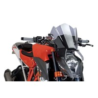 KTM 1290 Super Duke R 2014-2016 Puig Naked New Generation Sport Screen (Light Smoke)