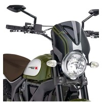 Puig Retrovision Screen To Suit Various Ducati Scrambler Models (Dark Smoke)