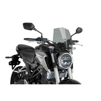 Honda CB125R/CB300R Neo Sports Cafe 2018 - Onwards Puig Naked New Generation Sport Screen (Smoke)