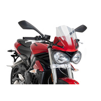 Triumph Street Triple S 2016- Onwards Puig Windshield Naked New Generation Sport (Clear)