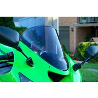 Kawasaki ZX6R/ZX636/ZX10R Double Bubble Screen, Dark Tint