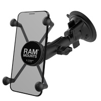 RAM-B-166-UN10U :: RAM Twist-Lock Suction Cup Mount With Universal X-Grip Large Phone/Phablet Cradle