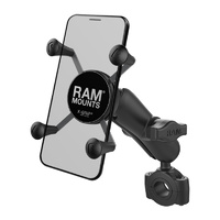 "RAM-B-408-75-1-UN7U :: RAM Torque 3/4"" - 1"" Diameter Handlebar Base With X-Grip For Phones"