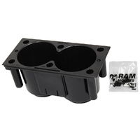"RAM-FP-CUP1F :: RAM Tough-Box Console 4"" Dual Drink Cup Holder"