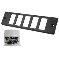 "RAM-FP2-S5-0830-1450 :: RAM Tough-Box Console Custom 2"" Faceplate To Accommodate Five Switches"
