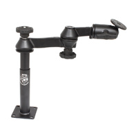 "RAM-VP-SW1-47 :: RAM Double Swing Arm with 4"" Male and 7"" Female Tele-Pole"