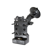 RAP-B-166-CO5PU :: RAM Composite Twist-Lock Suction Cup Mount With Powered Cradle For HP iPaq
