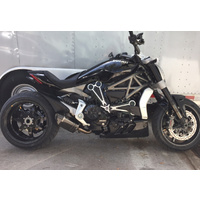 Ducati XDiavel 1/2 System With Carbon Fiber Short Muffler